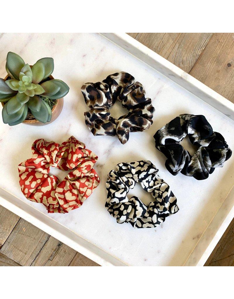 Leopard Print Scrunchie Spice