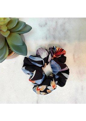 Floral Scrunchie Black