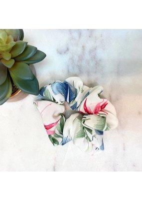 Floral Scrunchie White