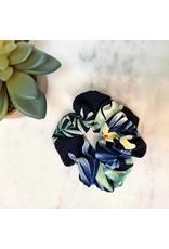 Floral Scrunchie Navy