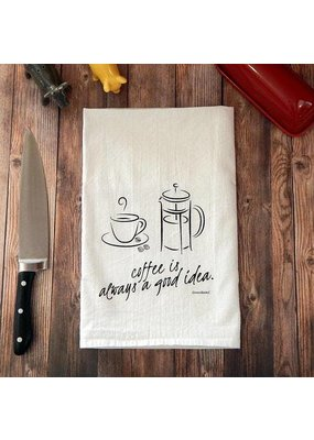 Green Bee Tea Towels Coffee Is Always A Good Idea Tea Towel