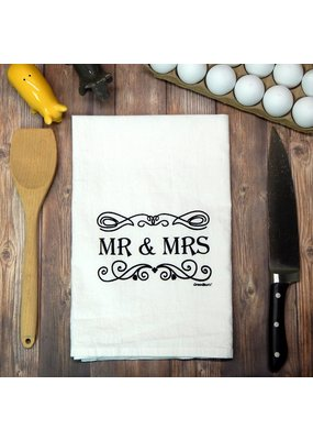 Green Bee Tea Towels Mr. & Mrs. Wedding Tea Towel