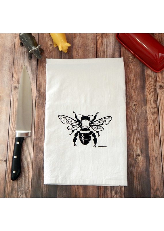 Green Bee Tea Towels Honey Bee Tea Towel