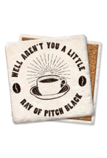Tipsy Coasters Little Ray Of Pitch Black Coffee Coaster