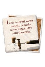 Tipsy Coasters I Vow To Drink More Wine Coaster