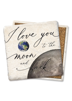 Tipsy Coasters I Love You To The Moon & Back Coaster