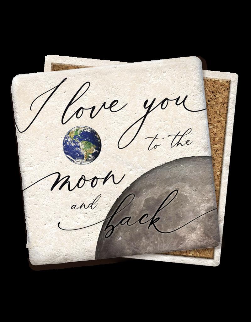 Tipsy Coasters I Love You To The Moon & Back Coaster