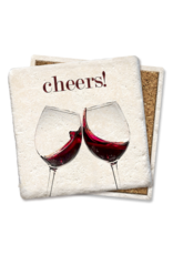 Tipsy Coasters Cheers Red Wine Coaster