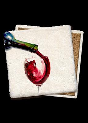 Tipsy Coasters Wine Pour Coaster