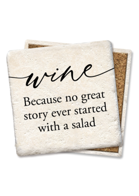Tipsy Coasters Wine Because No Great Story Coaster