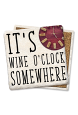 Tipsy Coasters It's Wine O'Clock Somewhere Coaster