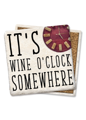 Tipsy Coasters It's Wine O'Clock Somewhere Coaster