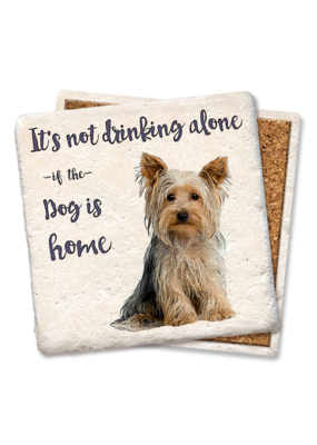 Tipsy Coasters It's Not Drinking Alone Dog Coaster