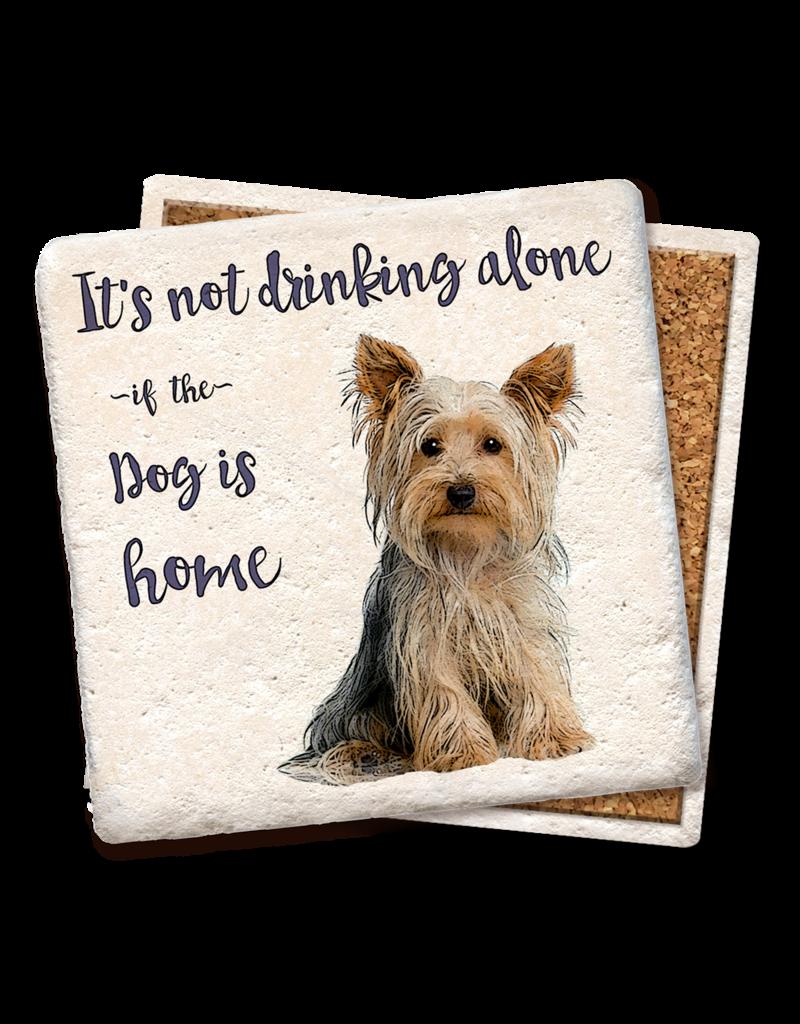 Tipsy Coasters It's Not Drinking Alone Dog Coaster