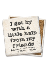Tipsy Coasters I Get By With A Little Help From My Friends Coaster