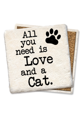 Tipsy Coasters All You Need Is Love And A Cat Coaster