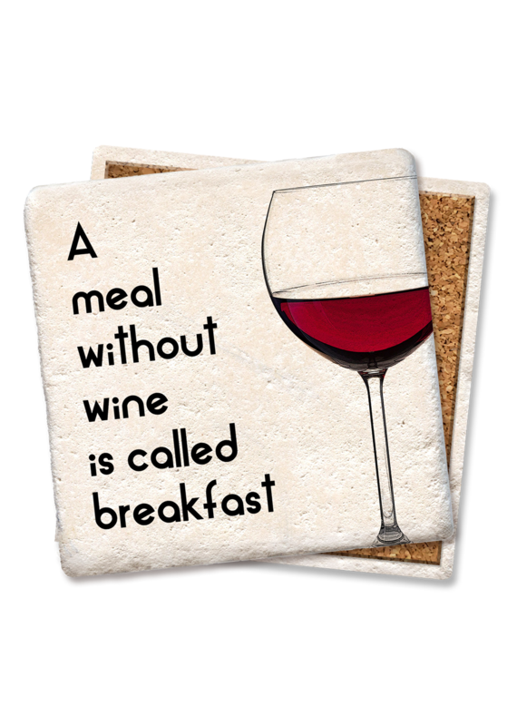 Tipsy Coasters A Meal Without Wine Coaster