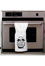 Twisted Wares It's Wine O'Clock Kitchen Towel