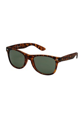 Blue Gem Brown Tortoise Wayfarer w Grey-Green Lens