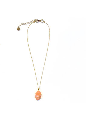 Nakamol Delicate Gold Peach Necklace