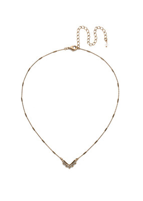 Sorrelli Jagged Chevron Necklace in Crystal