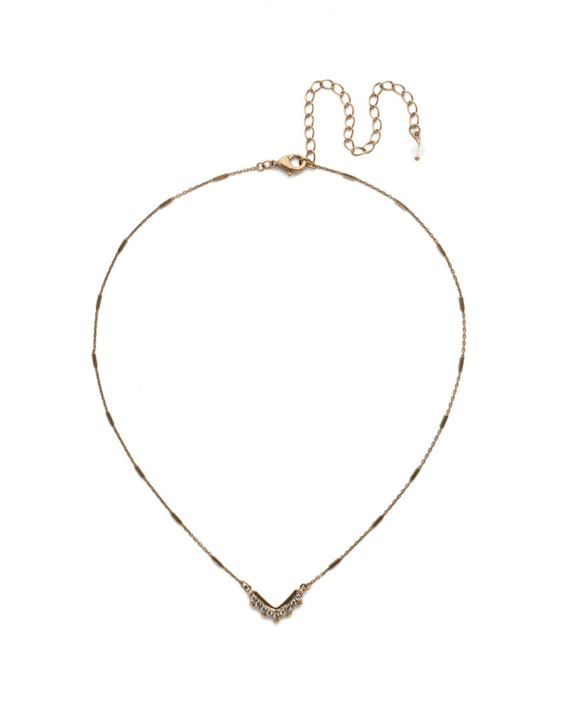 Sorrelli Sorrelli Jagged Chevron Necklace in Crystal