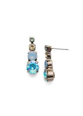 Sorrelli Descending Round Crystal Earrings in Pastel Prep