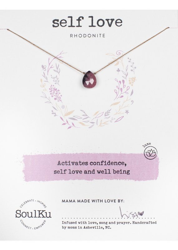SoulKu Rhodonite Luxe Self-Love Necklace