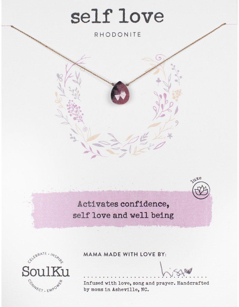 SoulKu Rhodonite Luxe Self-Love Necklace