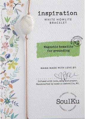 SoulKu White Howlite All One Inspiration Bracelet