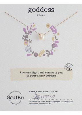 SoulKu Pearl Soul-Full of Light Goddess Necklace