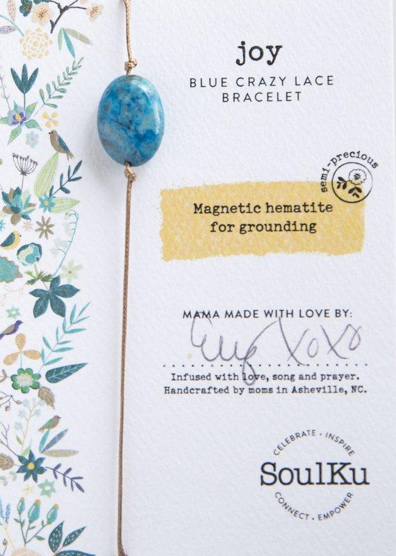 SoulKu Blue Crazy Lace All One Joy Bracelet