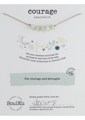SoulKu Amazonite Intention Courage Necklace
