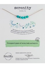 SoulKu Howlite Intention Serenity Necklace