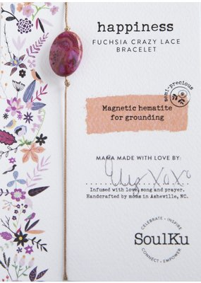 SoulKu Fuchsia Crazy Lace All One Happiness Bracelet