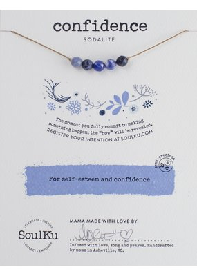 SoulKu Sodalite Intention Confidence Necklace