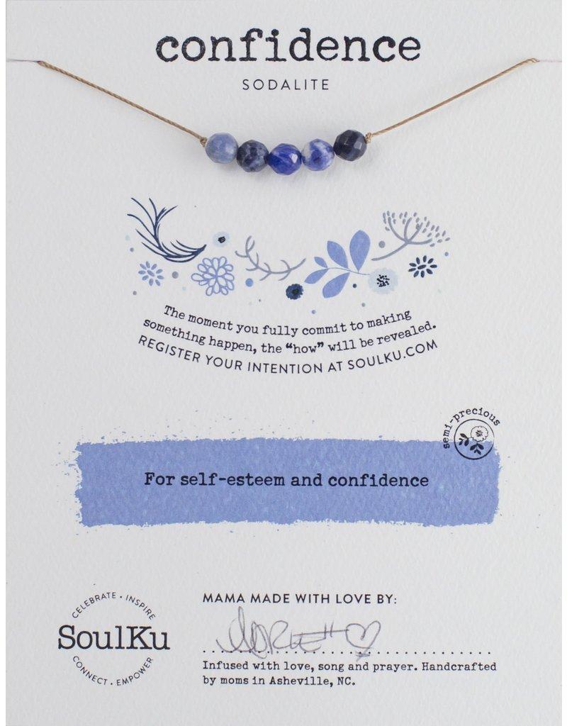 SoulKu Sodalite Intention Confidence Necklace