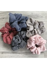 Stripe Scrunchie Blush