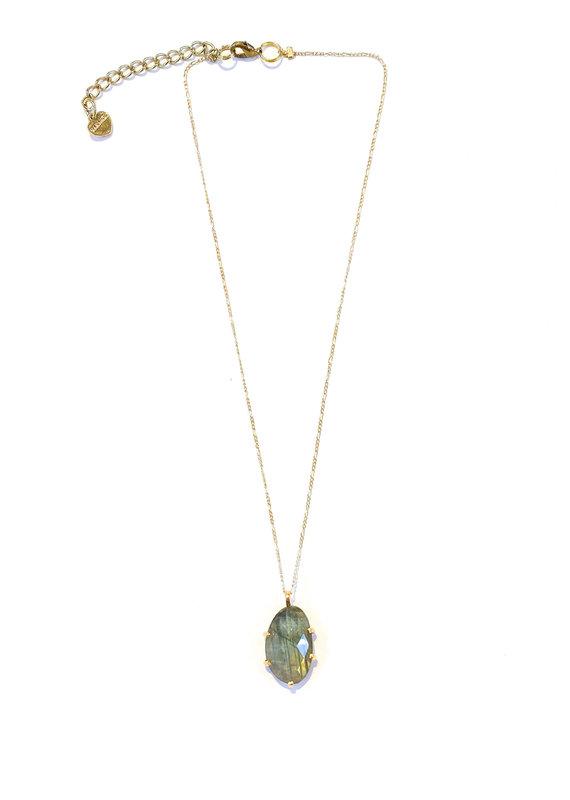 Nakamol Delicate Gold Labradorite Necklace