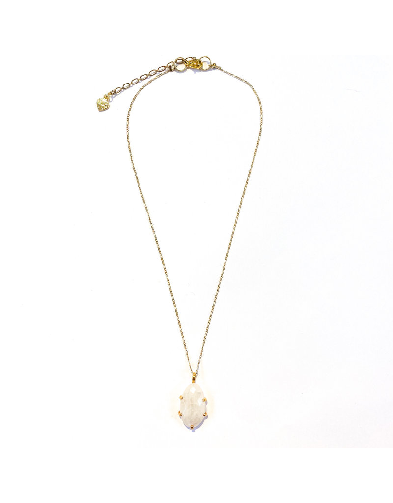 Nakamol Delicate Gold Moonstone Necklace
