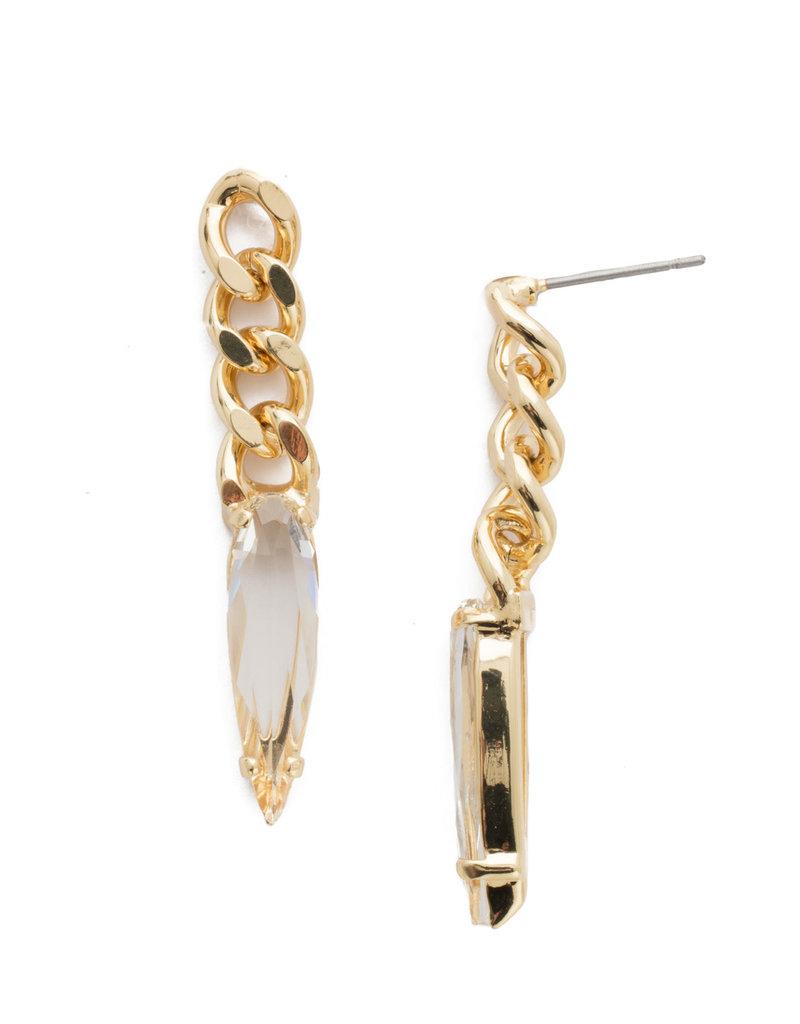 Sorrelli Crew Post Earring in Bright Gold