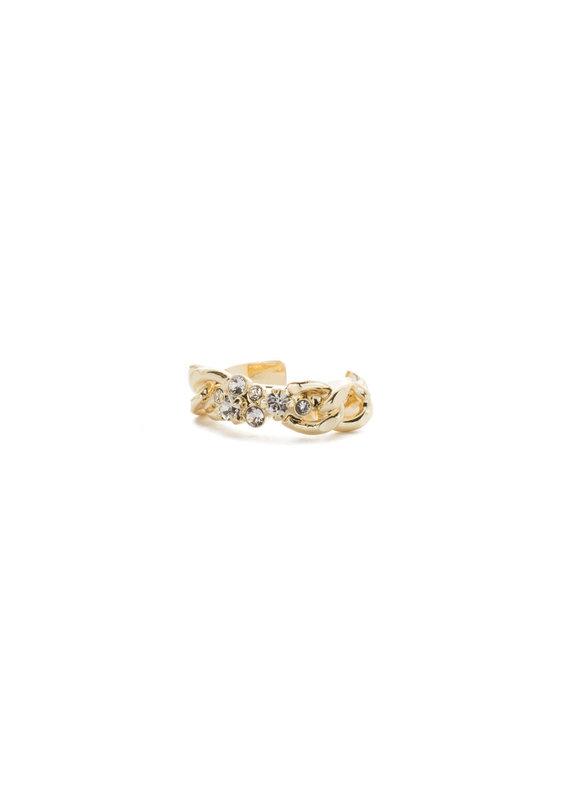 Sorrelli Crew Ring in Bright Gold