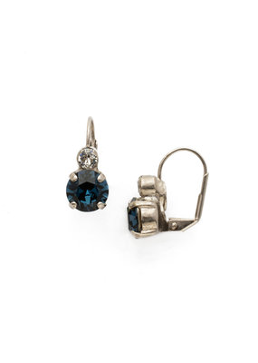 Sorrelli Glory Blue Round Crystal French Wire Earring