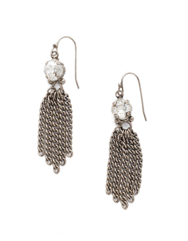 Sorrelli Chain Gang Earring in Antique Silver