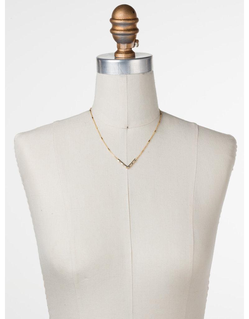 Sorrelli Crystal Chevron Necklace in Bright Gold
