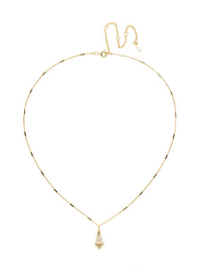 Sorrelli Pointed South Necklace in Bright Gold-tone Crystal