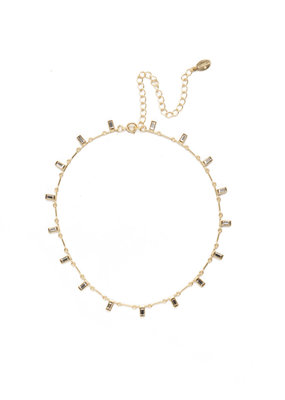 Sorrelli Bright Gold Crystal Choker Necklace