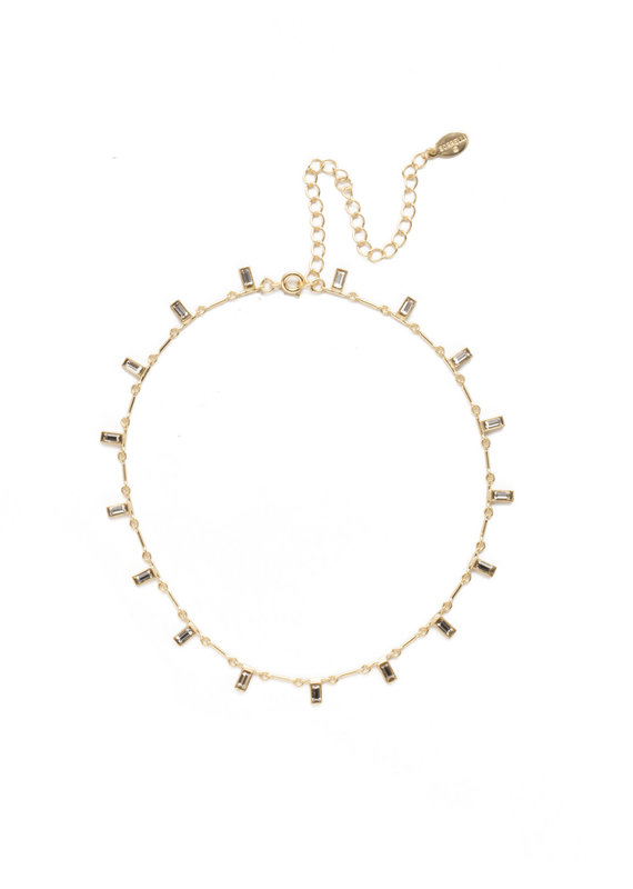 Sorrelli Bright Gold Crystal Choker Necklace