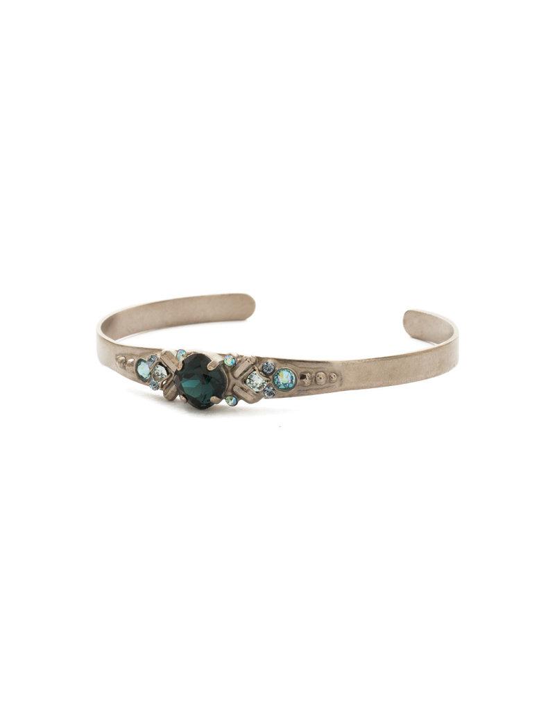 Sorrelli Blue Suede Aralia Cuff Bracelet