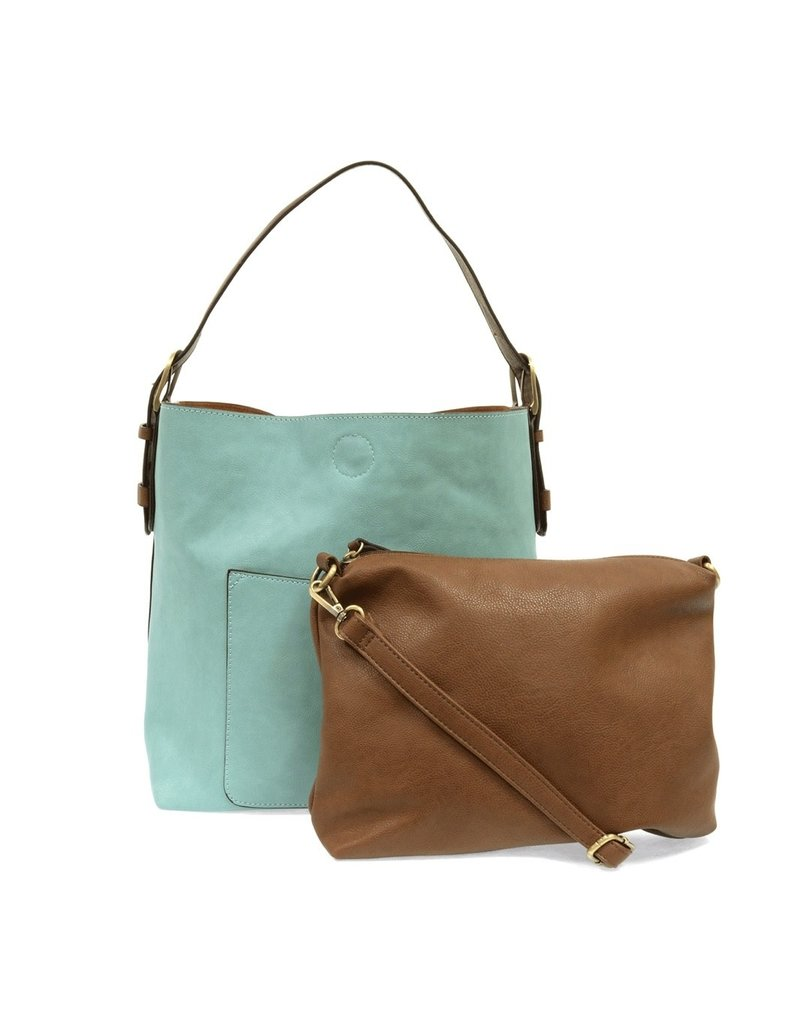 Joy Susan Capris Turquoise Hobo Coffee Handle Handbag